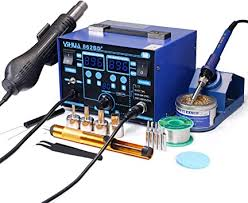 YIHUA 862BD+ SMD ESD Safe 2 in 1 <b>Soldering Iron Hot</b> Air Rework ...