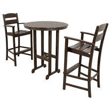 3 piece patio bar set. Contemporary Set Ivy Terrace Classics Mahogany 3Piece Plastic Outdoor Patio Bar Set And 3 Piece