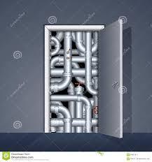 Door to Boiler Room stock vector. Illustration of machine - 68661912