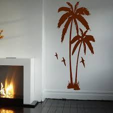 tree sea gulls bath palms wall art