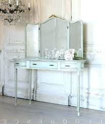 White Antique Vanity With Mirror Vanity Fold Mirrors Awesome Antique ...