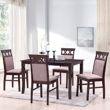 Merax Harperbright Designs 5 Piece Dining Set Rubber Wood Dining