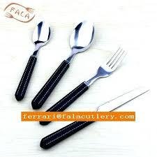 black silverware sets pieces plastic handle flatware vintage cutlery set patterned china silve china piece plastic handle flatware
