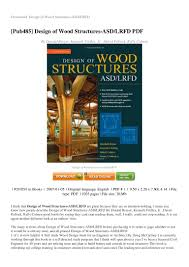 Design Of Wood Structures By Breyer Review Design Of Wood Structures Asd Lrfd Pdf 0d318