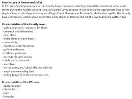as film studies fm a b c and d grade exemplar micro features  courtly love in romeo and juliet themes