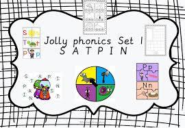 Jolly Phonics Alphabet Chart Jolly Phonics Print And Go Activity Centers Set 1 Satpin
