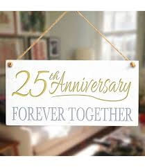 twenty fifth anniversary gift sign zoom