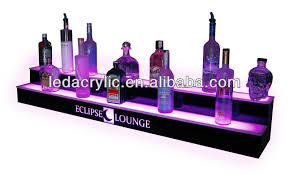 Bar Bottle Display Stand A Lighted Liquor Bottle Display Made Of Glossyblack Flame 58