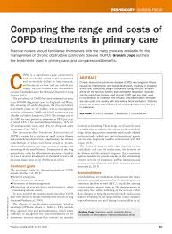 Pdf Comparing The Range And Costs Of Copd Treatments In