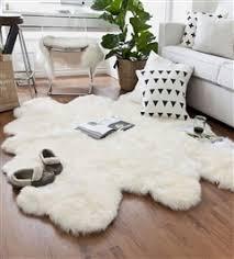 Sheep skin rug Faux White Sexto Sheepskin Rug Assembled Pelts Wayfair Sexto 6 Pelt Lambskin Rugs Large Sheepskin Rugs Online From