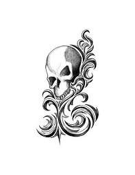 Lebka Tribal Nalepovací Tetování