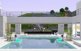 Small Picture Sims 4 Home Design And This Sim3 House Mix Modern Style Pool4