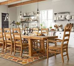 country style pottery barn kitchen table wax pine finish bold kitchen chair pads pottery barn