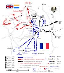 military strategy map of the waterloo campaign