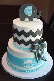 Elephant Chevron Cake - Baby shower cake. The hostess brought me a ...
