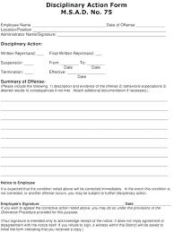 Corrective Action Form Free Employee Discipline Form Corrective