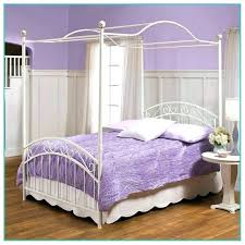 Full Size White Metal Canopy Bed Twin Cover – paul-hadrien