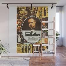 <b>The Godfather</b>, <b>vintage</b> movie poster <b>Wall</b> Mural by alma_design ...