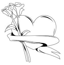 Hearts, flowers, cupid and more, these coloring pages, sheets and pictures will keep the kids happy for hours! Free Adult Printable Coloring Pages Roses Heart Coloring Home