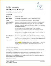 Cook Job Description For Resume 100 Bookkeeper Job Description Resume Cook Resume 84