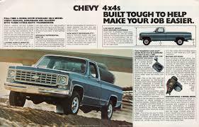 GM 1976 4-Wheel Drive Chevy Truck Sales Brochure