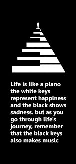 Inspirational Quotes About Life's Journey Life is like a piano The white keys represent happiness 20 17054