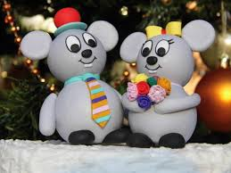 Animal Wedding Cake Topper Custom Mouse Cake Topper Wedding Cake