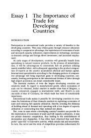 the importance of trade for developing countries springer inside