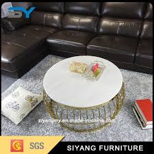 china foshan manufacturer stainless steel round coffee table tea china modern silver