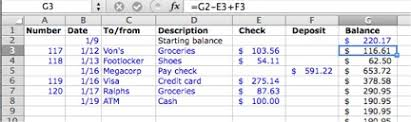 excel checkbook formula check register take charge