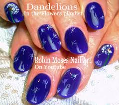 Robin Moses Nail Art: Navy Nail art filled with dandelion wishes ...