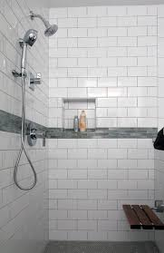 example of a classic master white tile and ceramic tile bathroom design in philadelphia with an