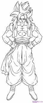 Dragon Ball Z Coloring Pages Vegeta Super Saiyan 4 Manga Coloring