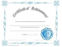 Performance Certificate Sample Outstanding Performance Achievement Certificate Template