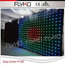 p18 3x4m free black fabric for backdrop led lighted stage backdrop curtain