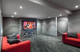 Basement Design Ideas Impressive Moderngraybasementdecoratingideasimage48 APT Renovation