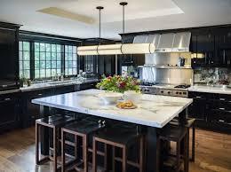Image Dark Wood u003cpu003eu003cem Dataredactortagu003d Elle Decor 30 Sophisticated Black Kitchen Cabinets Kitchen Designs With Black