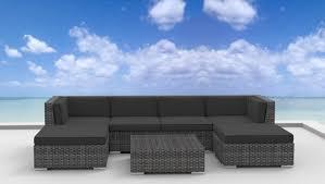 image modern wicker patio furniture. Urban Furnishing - MAUI 7pc Modern Wicker Rattan Patio Furniture Set Image W