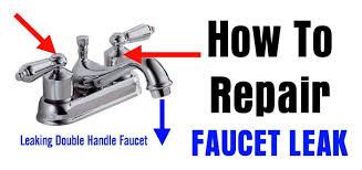 repair a leaking double handle faucet