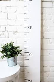 White Growth Chart Farmhouse White Wooden Growth Chart For Babies Kids