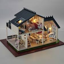 Image Etsy A032 3d Wooden Large Doll House Miniatura Miniature Wooden Building Model Furniture Model Villa Provence 112 Ebay A032 3d Wooden Large Doll House Miniatura Miniature Wooden Building