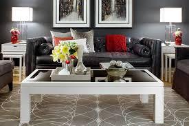Jane Lockhart Gray/Red Living room modern-living-room
