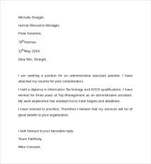 Cover Letter Example Administrative Assistant 70 Images Leading