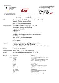 Abschlusszusammenfassung Zum Forschungsprojekt Igf 18968 N Hip Am