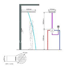 height of shower valve standard head heights