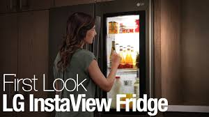 lg refrigerator instaview. lg\u0027s instaview fridge lets you see your food without opening the door lg refrigerator instaview w