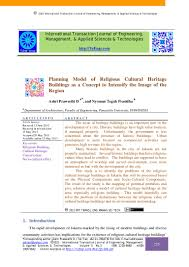 Hamid Shirvani Urban Design Process Pdf Planning Model Of Religious Cultural Heritage Buildings As A