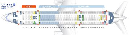 United Boeing 777 Seating Chart International Seat Map Boeing 777 200 United Airlines Best Seats In Plane