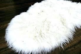 fake sheepskin rug image faux area canada small fur