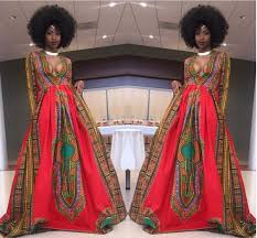 African Pattern Dress Amazing Sexy Hot Long Sleeves African Dashiki Print Prom Dress Wedding Gown